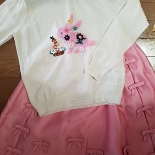 Chesty - チェスティ♡ウサギニットリボンスカート セット