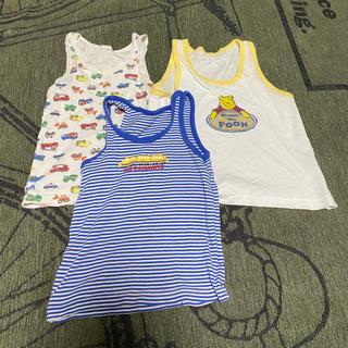 ミキハウス(mikihouse)のミキハウス ランニングシャツ2枚とプーさんシャツ(下着)