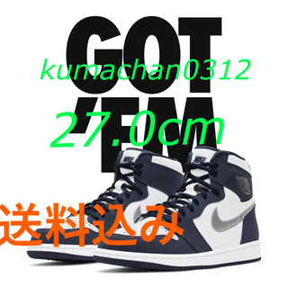 "NIKE - AJ1 HIGH OG CO.JP ""WHITE/MIDNIGHT NAVY"""