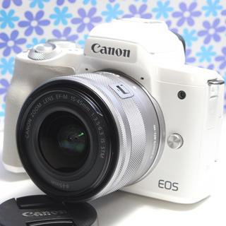 Canon - Wi-Fi &Bluetooth搭載★Canon EOS kiss M★極美品★