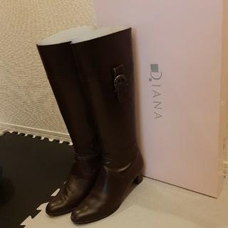 DIANA - DIANA ブーツ ダークブラウン 25センチ