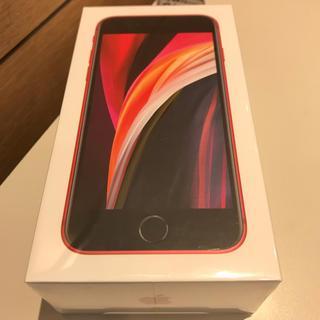 アイフォーン(iPhone)の新品未開封 iPhone SE2 128GB RED 赤 SIMロック解除済(スマートフォン本体)
