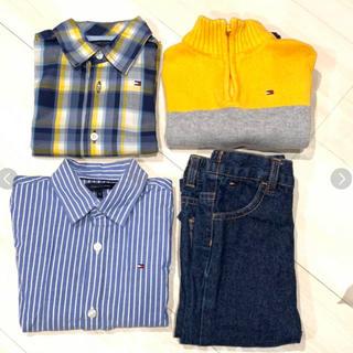 トミーヒルフィガー(TOMMY HILFIGER)のトミーヒルフィガー シャツ ニットトレーナー ジーパン まとめ売り 90cm(Tシャツ/カットソー)