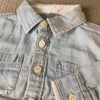 ムジルシリョウヒン(MUJI (無印良品))の無印良品 デニム風シャツ 80cm(シャツ/カットソー)