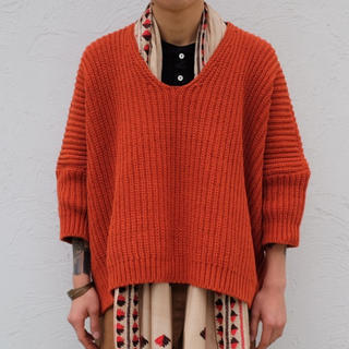 1LDK SELECT - 18ss o project OVERSIZED knitted vネック