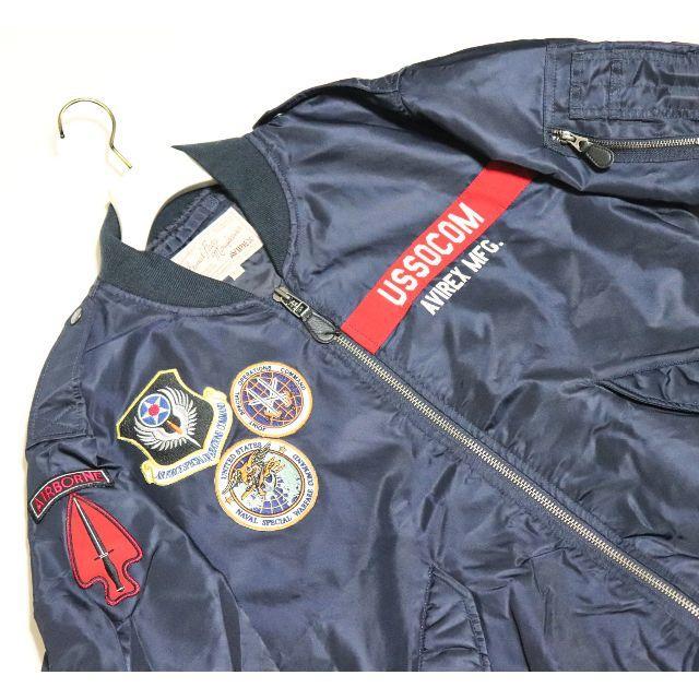 AVIREX(アヴィレックス)の新品【アヴィレックス】L-2 アメリカ特殊作戦軍 フライトジャケット 紺 M メンズのジャケット/アウター(フライトジャケット)の商品写真