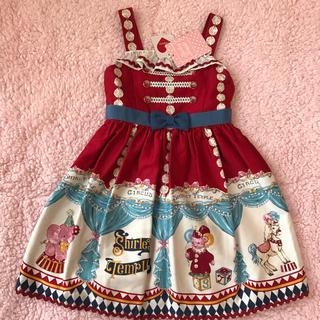 Shirley Temple - シャーリーテンプル サーカス 完売 赤 100 新品 ジャンパースカート
