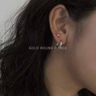 L'Appartement DEUXIEME CLASSE - 【 NEW 】gold round pierce / 6mm ◆ 即購入NG