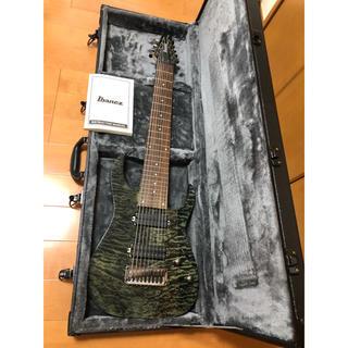 アイバニーズ(Ibanez)のibanez  RG9QM-BI  9弦ギター 2016年製(エレキギター)