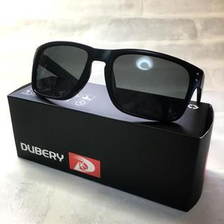 偏光サングラス UV400 マットブラック/ブラックスモーク ウェリントン