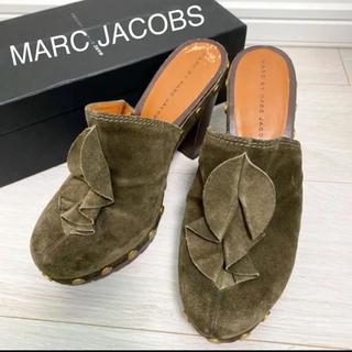 MARC BY MARC JACOBS - 美品!定価47000円 マークジェイコブス 24.0 サンダル カーキ
