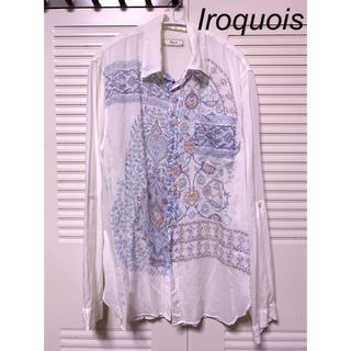イロコイ(Iroquois)のIroquois 長袖ペイズリー花柄シャツ 美品(シャツ)