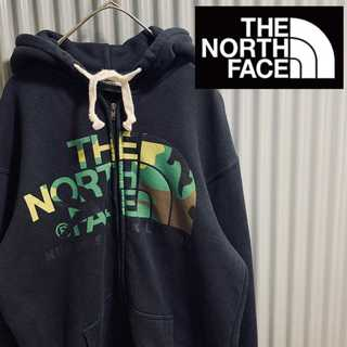 THE NORTH FACE - XLsize  THE NORTH FACE カモ柄 迷彩 ジップパーカー