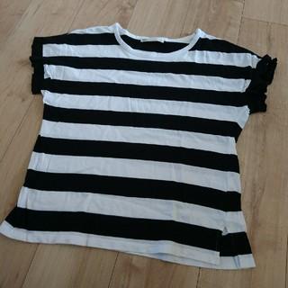 イッカ(ikka)のL ikka ボーダー Tシャツ(Tシャツ(半袖/袖なし))