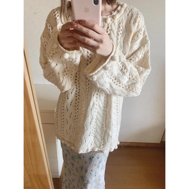 Lochie(ロキエ)のvintage ivory knit レディースのトップス(ニット/セーター)の商品写真