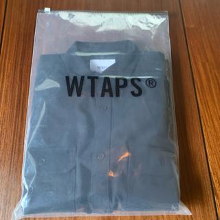 W)taps - WTAPS UNION  LS COTTON. FLANNEL  L ネイビー