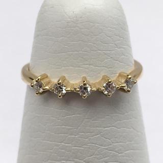 アーカー(AHKAH)のAHKAH K18 ダイヤモンド ピンキー リング(リング(指輪))