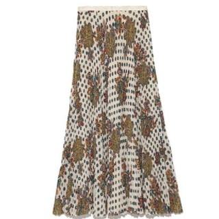 リリーブラウン(Lily Brown)のLily Brown可愛い柄のロングスカート(ロングスカート)