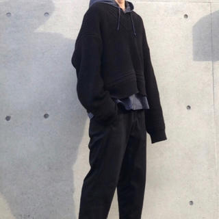 ハレ(HARE)のHARE チルデンニット ブラック 韓国 韓国ファッション オーバーサイズ(ニット/セーター)