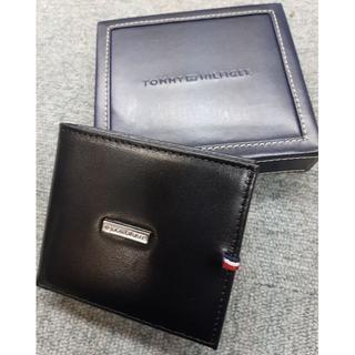 トミーヒルフィガー(TOMMY HILFIGER)の新品未使用 トミーヒルフィガー 小銭付き2つ折り財布 メンズ 25X012BK(折り財布)