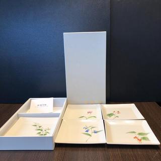 コウランシャ(香蘭社)の香蘭社 五草花 角皿 5枚セット(食器)