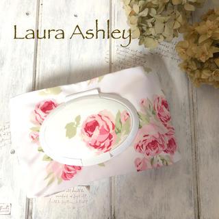 LAURA ASHLEY - ローラアシュレイ クチュールローズ柄おしりふきorウエットティッシュポーチ防水
