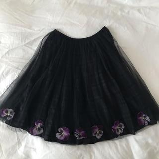ハニーミーハニー(Honey mi Honey)のハニーミーハニー パンジーチュールスカート(ひざ丈スカート)