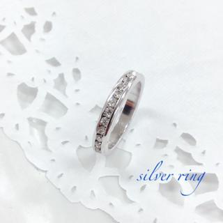 シルバー クリスタル リング(指輪) 10号(リング(指輪))