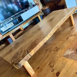 欅 けやき 一枚板 テーブル 座卓(ローテーブル)