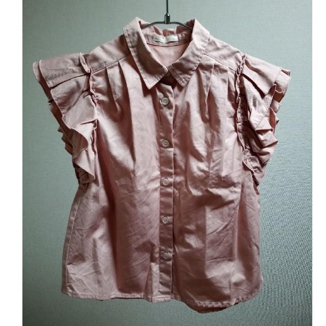 GU(ジーユー)の【GU】半袖シャツ ブラウス 女の子120cm キッズ/ベビー/マタニティのキッズ服女の子用(90cm~)(ブラウス)の商品写真