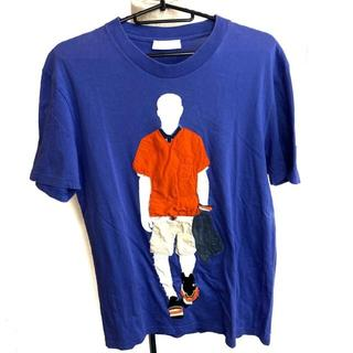 プラダ(PRADA)のPRADA プラダ Tシャツ 服 メンズ 半袖シャツ ブルー系 人間(Tシャツ/カットソー(半袖/袖なし))