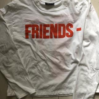 オフホワイト(OFF-WHITE)のVLONE ロンT  M  ASAP レディース(Tシャツ(長袖/七分))
