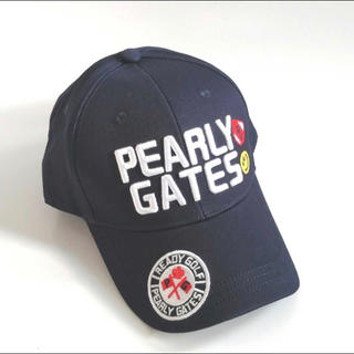 パーリーゲイツ(PEARLY GATES)のゴルフキャップ ネイビー パーリーゲイツ 人気 新品 即日発送 (キャップ)
