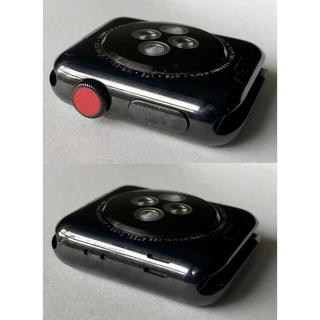 アップルウォッチ(Apple Watch)のApple Watch Series3 ステンレス ブラック セルラー 38mm(腕時計(デジタル))