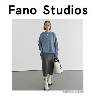 STUDIOUS - Fano studios 2020AW グレー PUレザー ロングスカート