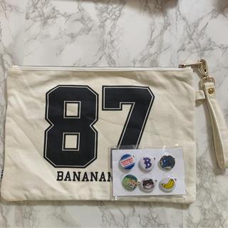 バナナマンライブグッズ BANANAクラッチバッグ&缶バッジ
