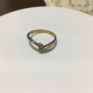 シルバー  アクアマリンリング(リング(指輪))