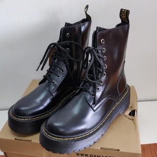 ドクターマーチン(Dr.Martens)のUK6ドクターマーチン Dr.Martens 厚底 ブラック 新品 正規品(ブーツ)