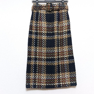 Mila Owen - ミラオーウェン チェックタイトスカート 美品