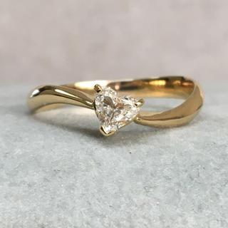 K18 ハートシェイプ ダイヤモンド リング