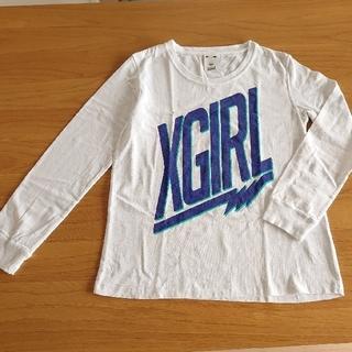 エックスガール(X-girl)のX-girl 長袖Tシャツ白(1)(Tシャツ(長袖/七分))