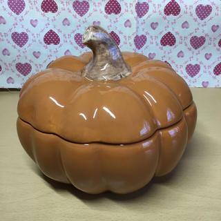 ローラアシュレイ(LAURA ASHLEY)の【未使用】ローラアシュレイ かぼちゃ ホウロウ 小物入れ 置物 インテリア 希少(小物入れ)