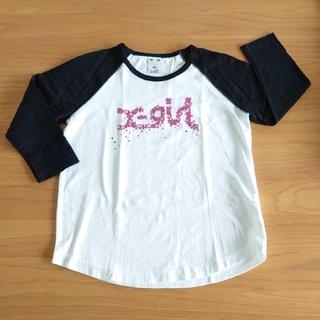 エックスガール(X-girl)の【美品】X-girl ☆9分丈長袖Tシャツ(1)(Tシャツ(長袖/七分))