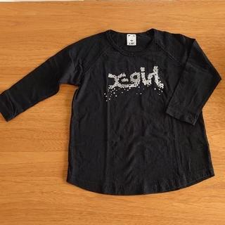 エックスガール(X-girl)の【美品】X-girl ☆9分丈Tシャツ黒(1)(Tシャツ(長袖/七分))
