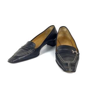 Hermes - エルメス ローファー パンプス 靴 ブラック系 ビジネスシューズ シューズ