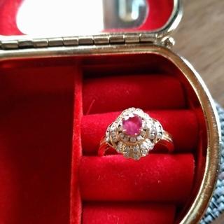 ルビー&ダイヤモンド リング(リング(指輪))