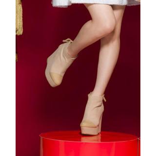 リズリサ(LIZ LISA)の新品 LIZLISA バックリボンスカラップブーティー(ブーツ)