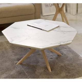 【送料無料】Marble Center Table 75 / WH(ローテーブル)