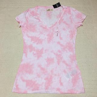 ホリスター(Hollister)の新品未使用 HOLLISTER ホリスター Tシャツ ピンク S  サイズ(Tシャツ(半袖/袖なし))