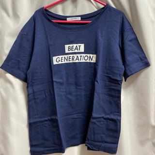 ライトオン(Right-on)の紺 Tシャツ(Tシャツ(半袖/袖なし))